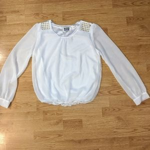 Converse all star cropped blouse with gold detail